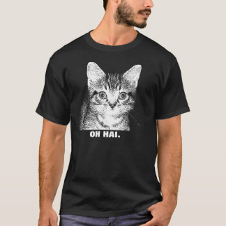 """OH HAI."" - Kitten Shirt Mens"