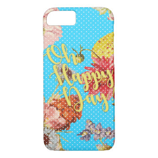 Oh Happy Day! - Blue iPhone 7 Case