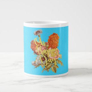 Oh Happy Day! - Blue Large Coffee Mug