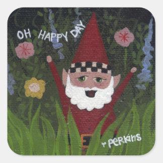 Oh Happy Day Gnome Sticker