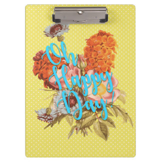 Oh Happy Day! Yellow Clipboard