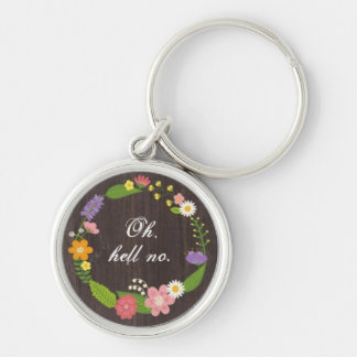Oh, hell no. Home. Work. Drive. Home. Work . . . Silver-Colored Round Keychain