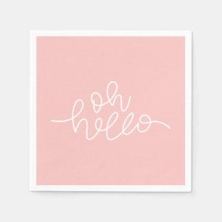 Oh Hello-blush pink Paper Napkin