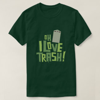 Oh I Love Trash Retro Pop Culture Graphic T-Shirt