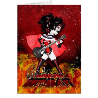 Oh La La Birthday Card - Rocking Birthday Vampire