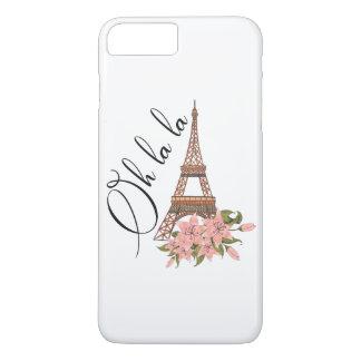 Oh La La | Eiffel Tower with Flowers Illustration iPhone 8 Plus/7 Plus Case