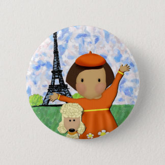Oh La La Paris Button