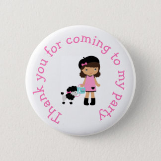 Oh la la Paris Eiffel Tower 'Thank you for coming' 2 Inch Round Button