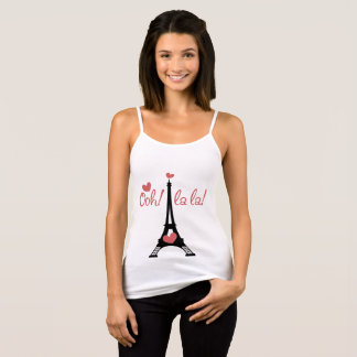 oh lala Paris to tower eiffel Tank Top