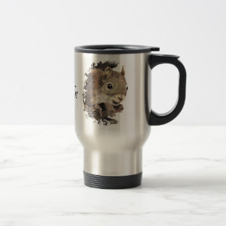 Oh look... a squirrel! Attention Humor Travel Mug