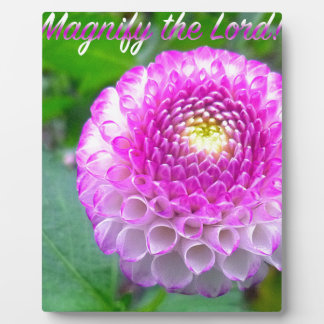 Oh Magnify The Lord! Plaque