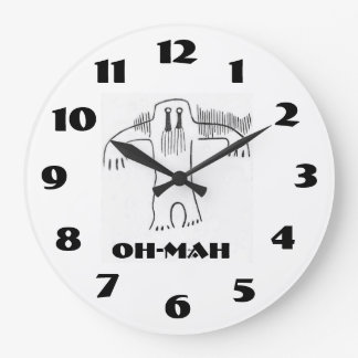 Oh-Mah is a native american word for Bigfoot Large Clock