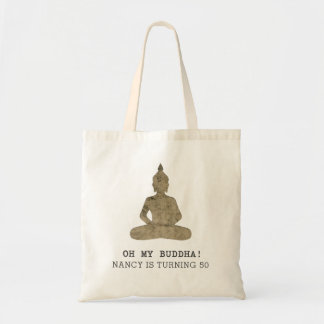 Oh My Buddha Funny Silhouette Tote Bag