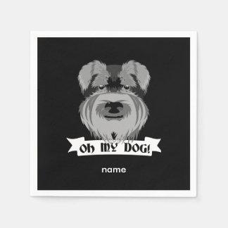 Oh My Dog Schnauzer Paper Napkin