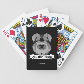 Oh My Dog Terrier Bicycle Playing Cards