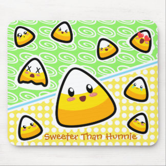Oh My Goodness! Kawaii Candy Corn! Mousepad
