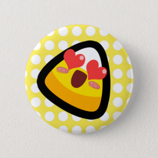Oh, My Goodness! Love Struck Candy Corn! Button