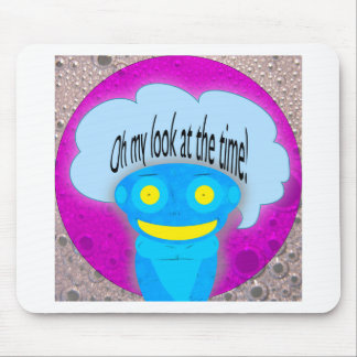Oh my look at the time! mouse pad
