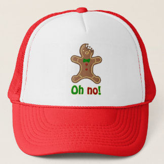 Oh no! Gingerbread Man Trucker Hat