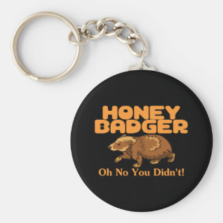 Oh No Honey Badger Keychain
