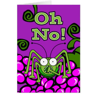 Oh No! It's St. Urho's Day Again, Grasshopper Gasp Card