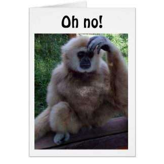 """OH NO"" TALKING MONKEY READY TO SAY HAPPY BIRTHDAY CARD"