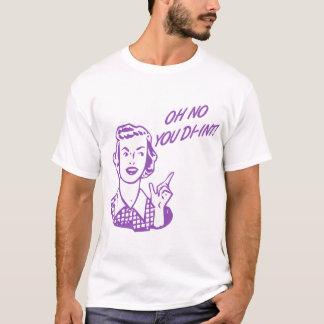 OH NO YOU DI-INT! Retro Housewife Purple T-Shirt