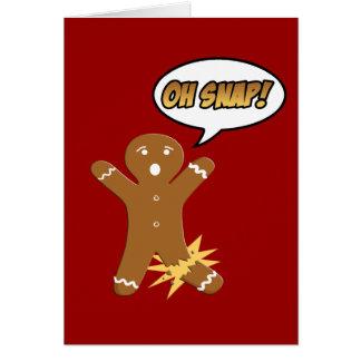 Oh Noël drôle de bonhomme en pain d épice Carte De Vœux
