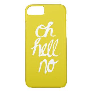 Oh non conception originale drôle de typographie coque iPhone 7