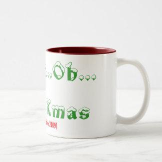 Oh...Oh...Oh...Merry Xmas, (Barry Island Grotto... Two-Tone Coffee Mug