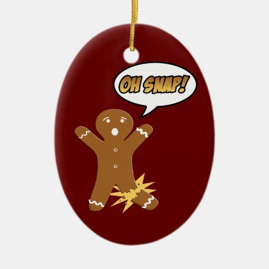 Oh ornement instantané de Noël de biscuit de