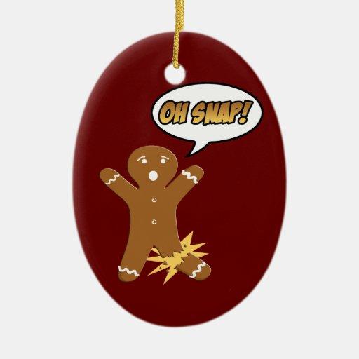 Oh ornement instantané de Noël de biscuit de bonho