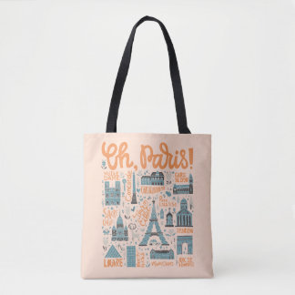 Oh, Paris! | Town Typography Tote Bag