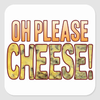 Oh Please Blue Cheese Square Sticker