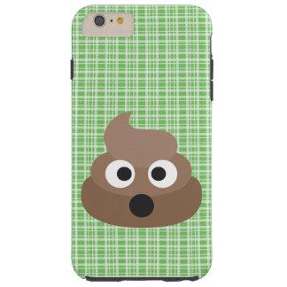 Oh Poo Emoji Green Plaid iPhone Case