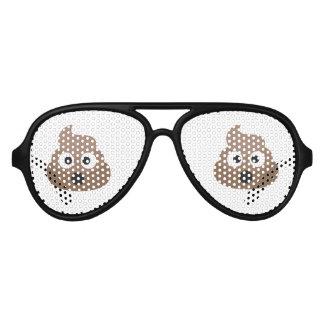 Oh Poo Emoji Party Sunglasses