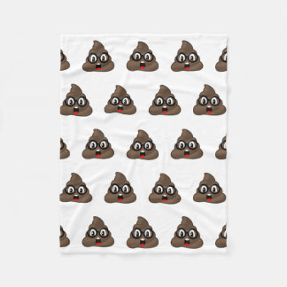 Oh Poop Emoji w/Glasses Fleece Blanket