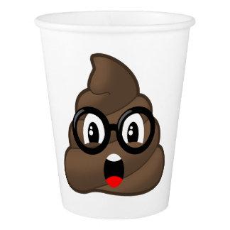 Oh Poop Emoji w/Glasses Paper Cup