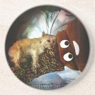 Oh, Poop! Round Sandstone Coaster