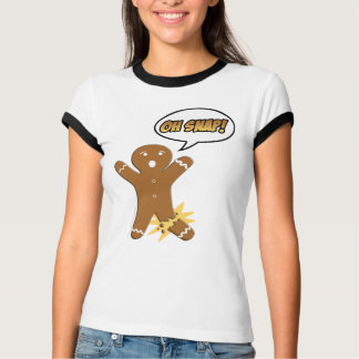 Oh rupture ! Bonhomme en pain d'épice drôle T-shirt