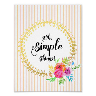 Oh, Simple Things! Poster