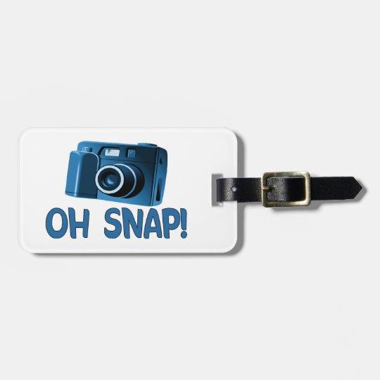 Oh Snap Camera Bag Tag