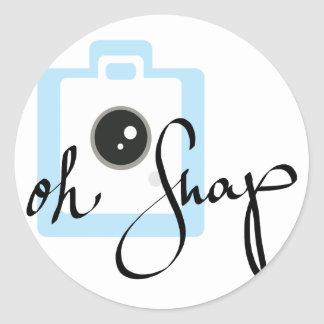 Oh Snap camera graphic Classic Round Sticker