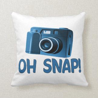 Oh Snap Camera Throw Pillow
