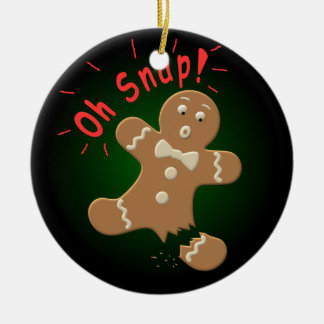 Oh Snap Ceramic Ornament