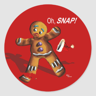 Oh, Snap! Christmas Gift Tag Round Sticker