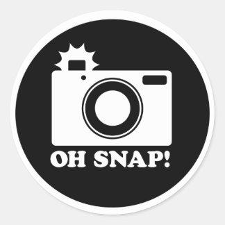 Oh Snap!! Classic Round Sticker