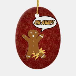Oh Snap Funny Gingerbread Man Ornaments