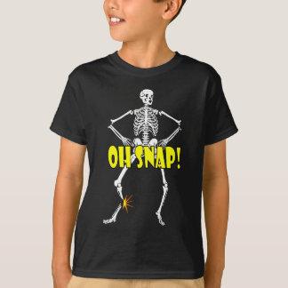 Oh Snap, Funny Skeleton Halloween T-Shirt