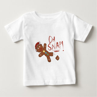 Oh Snap Gingerbread Man Baby T-Shirt